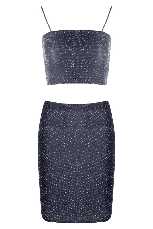 Skirt Mini and Set Crop Strappy wtOZUvq