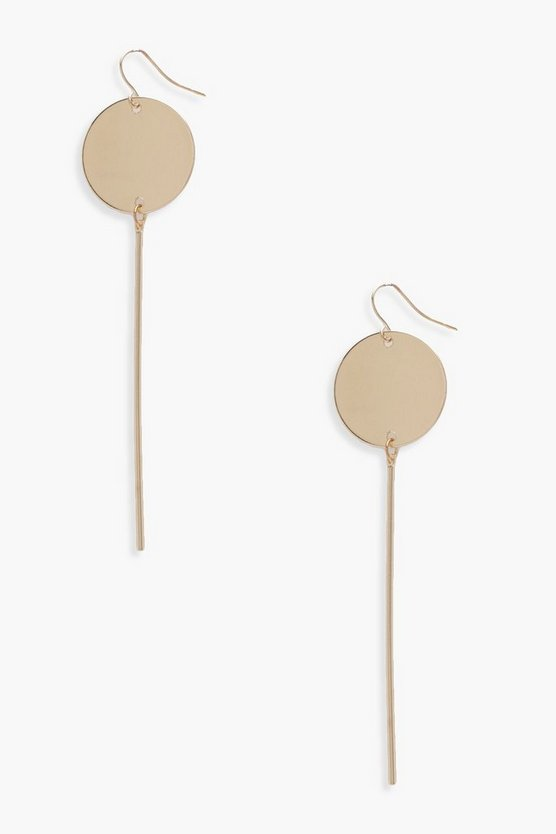 Anna Coin Bar Drop Earrings