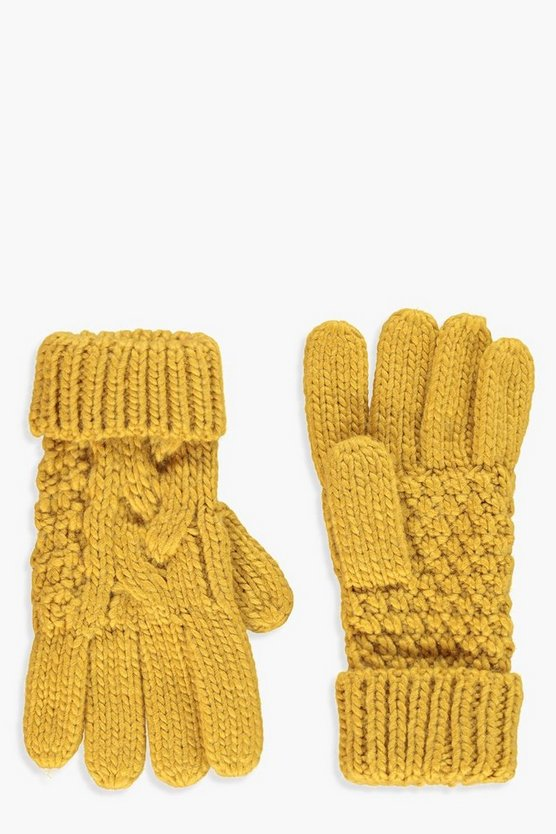 Knitted Cable Glove