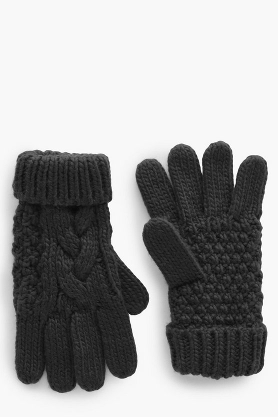 Amelia Knitted Cable Glove