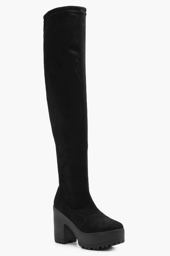 Olivia Cleated Over the Knee Boot