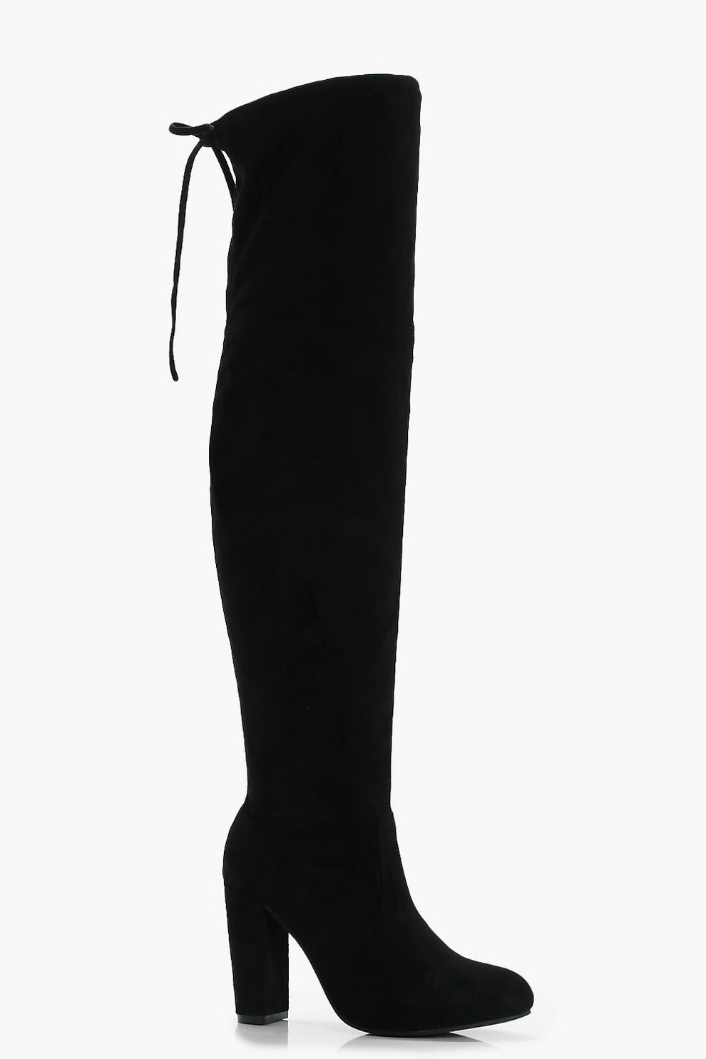 df7a83e50fd Block Heel Over the Knee Boots