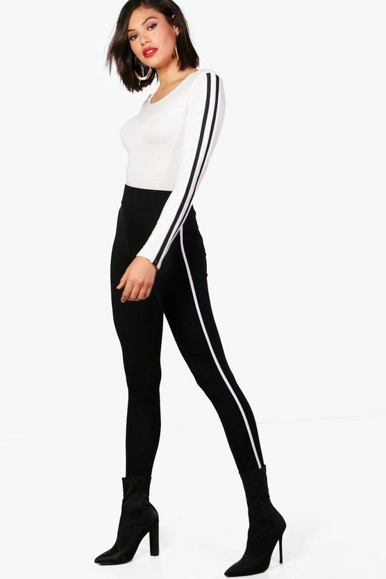 Contrast Piping Leggings