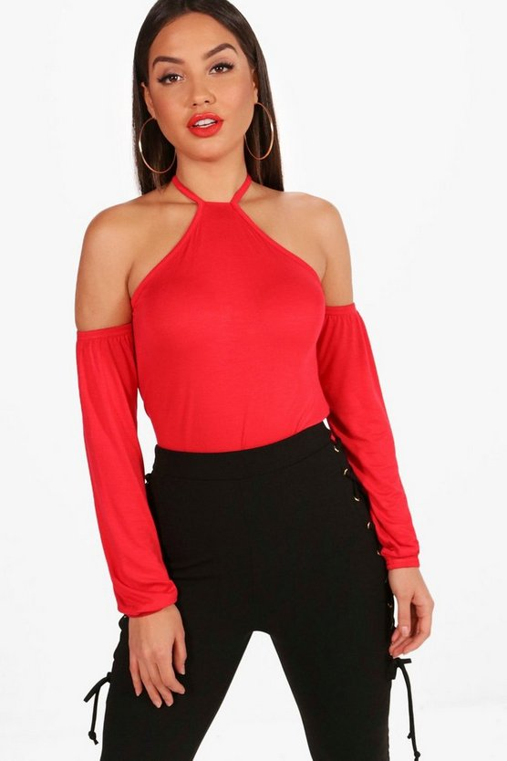 Grace Cold Shoulder Long Sleeve Top