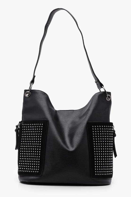 Ellie Pin Stud Slouch Day Bag