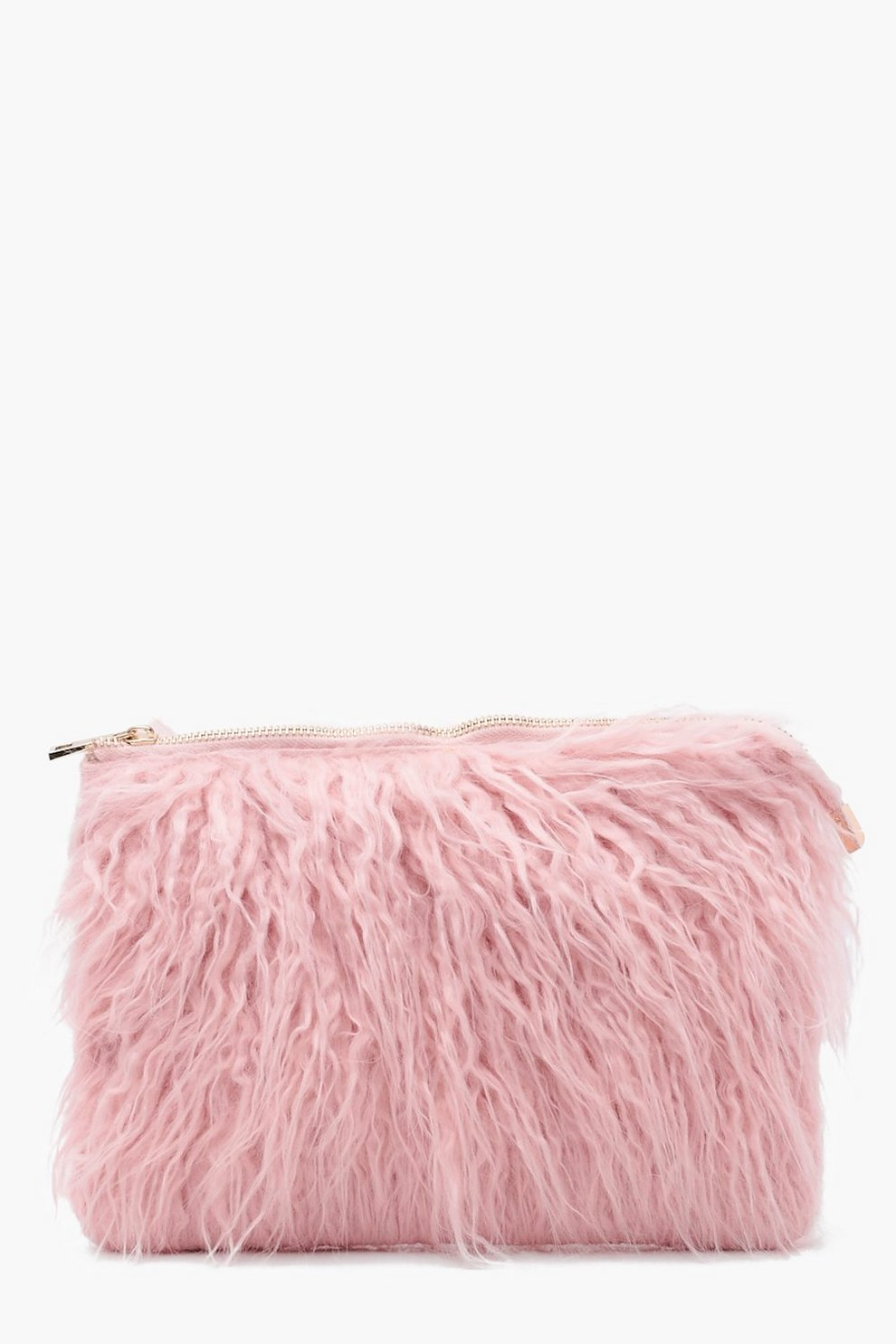 7563a0ea2df Louise Mongolian Faux Fur Clutch Bag | Boohoo
