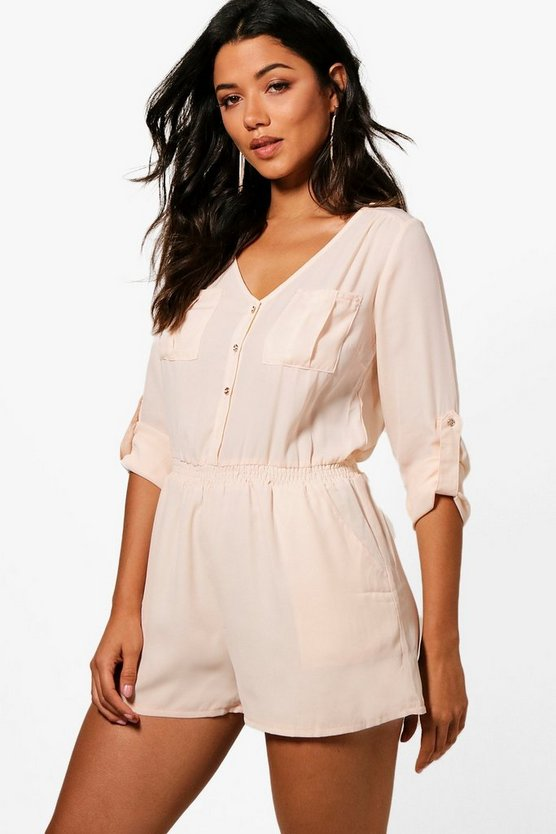 Button Through Playsuit