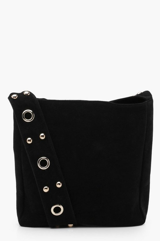 Megan Eyelet & Stud Cross Body Bag