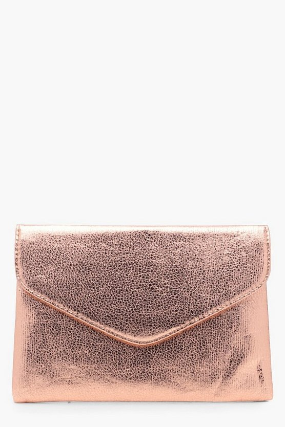 Metallic Envelope Clutch Bag
