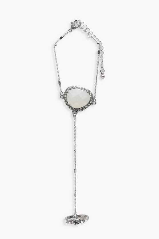 Brooke Diamante Stone Hand Harness