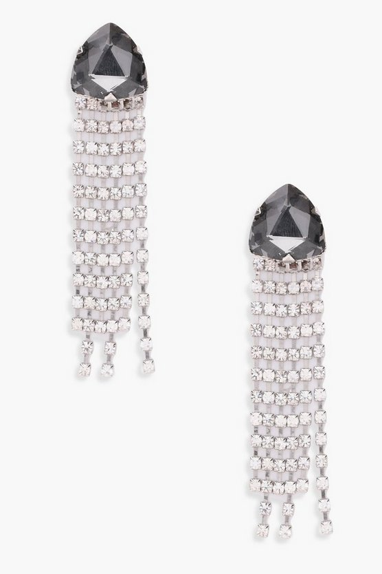 Ava Gem And Diamante Statement Earrings