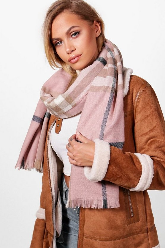 Nude Check Scarf