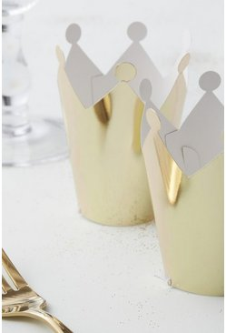 Womens Gold Mini Party Crowns