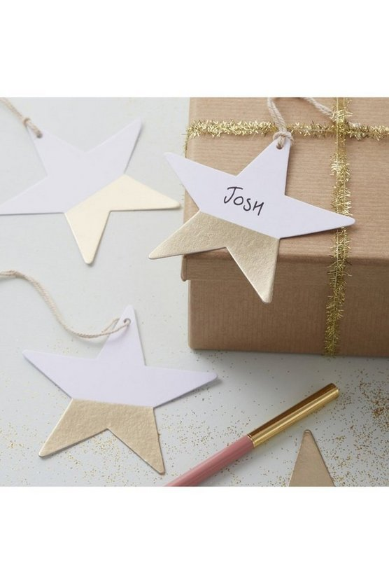 Dipped Foiled Star Gift Tags