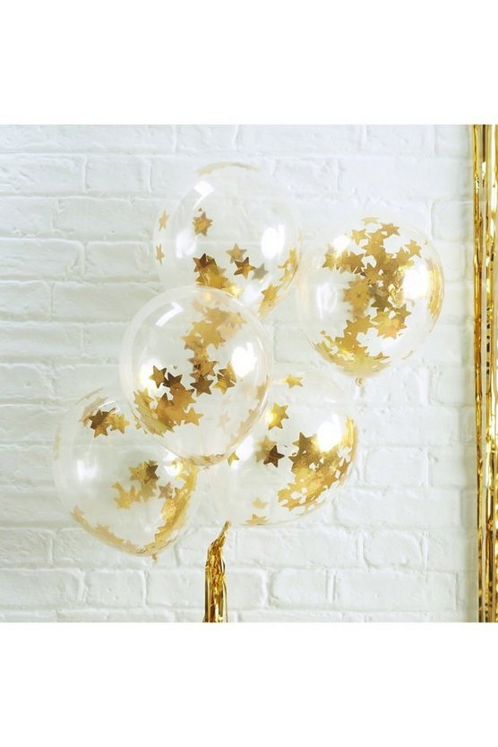 Confetti Balloon - Gold Star