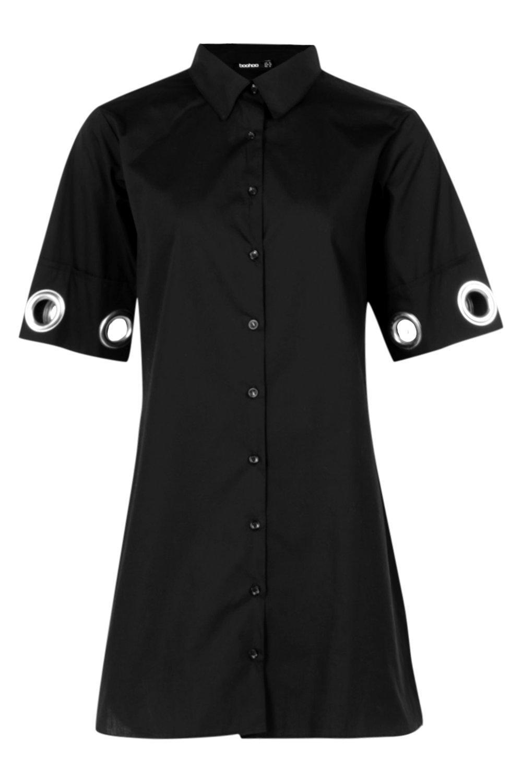 Boohoo-Jess-Eyelet-Detail-Shirt-Dress-per-Donna