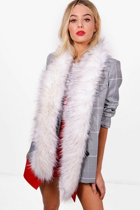 Jodie Tipped Faux Fur Stole