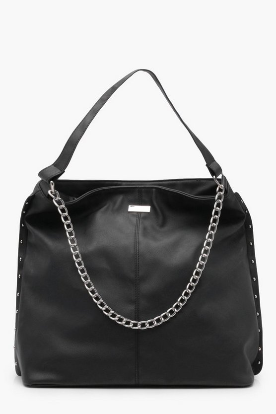 Joan Stud and Chain Hobo Day Bag