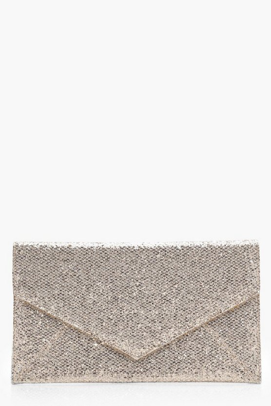 Glitter Envelope Panel Clutch