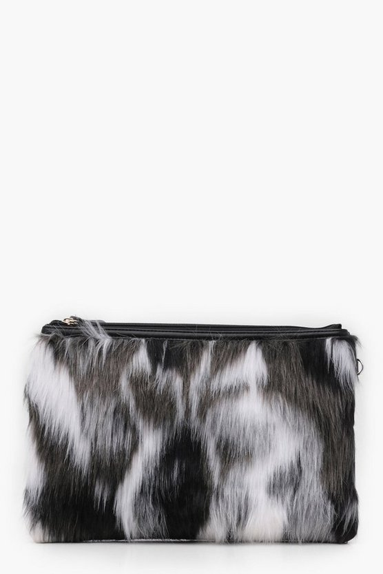 Multi Faux Fur Clutch