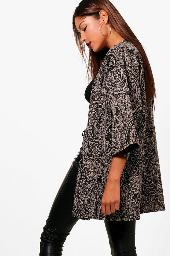 Womens Gold Alice Jacquard Duster