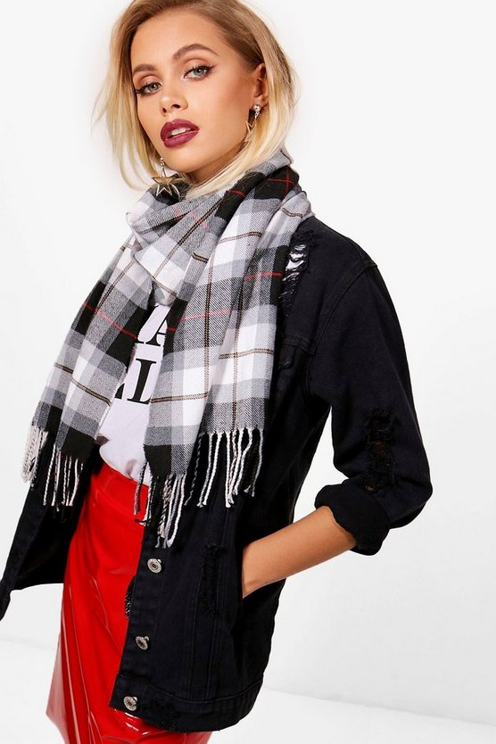 Lily Large Check Woven Scarf