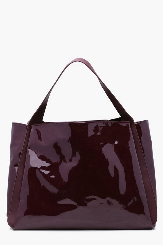 Ryda Vinyl Oversized Shopper Bag