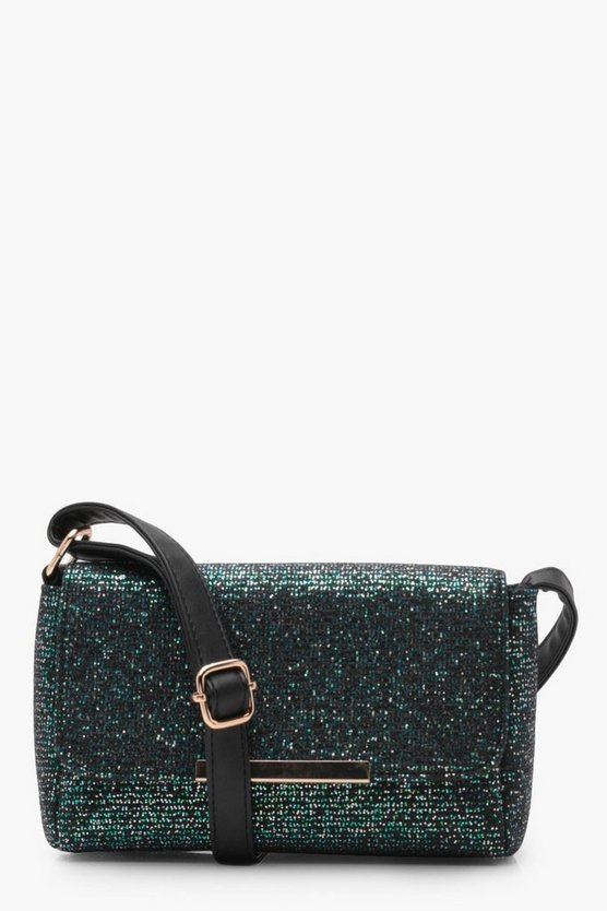 Womens Emerald Veronique Metallic Cross Body Bag