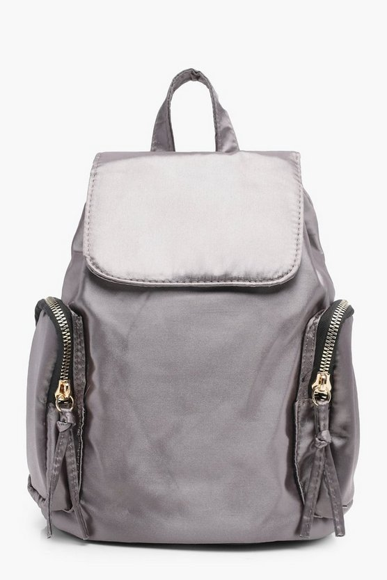 Double Side Pocket Drawstring Rucksack, DAMEN