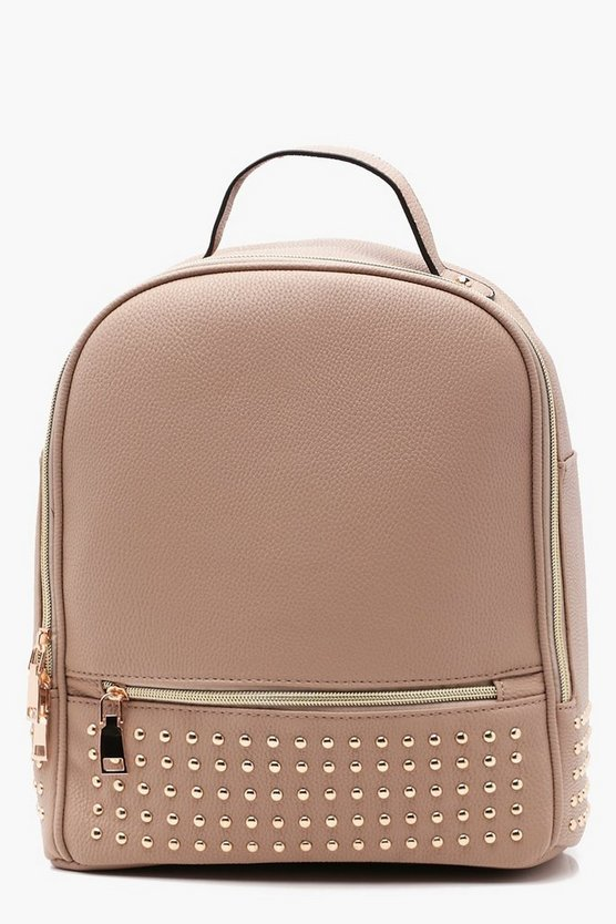 Zoe Stud And Zip Front Rucksack