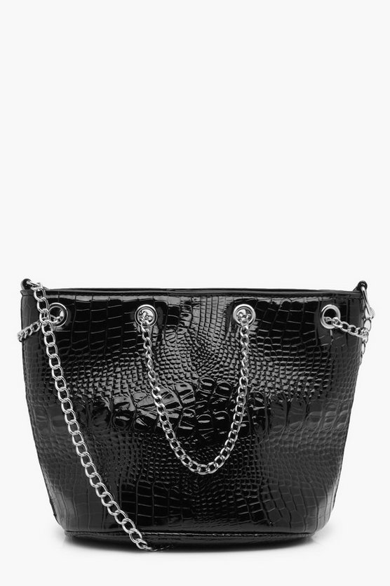 Alisha Patent Mock Croc Cross Body