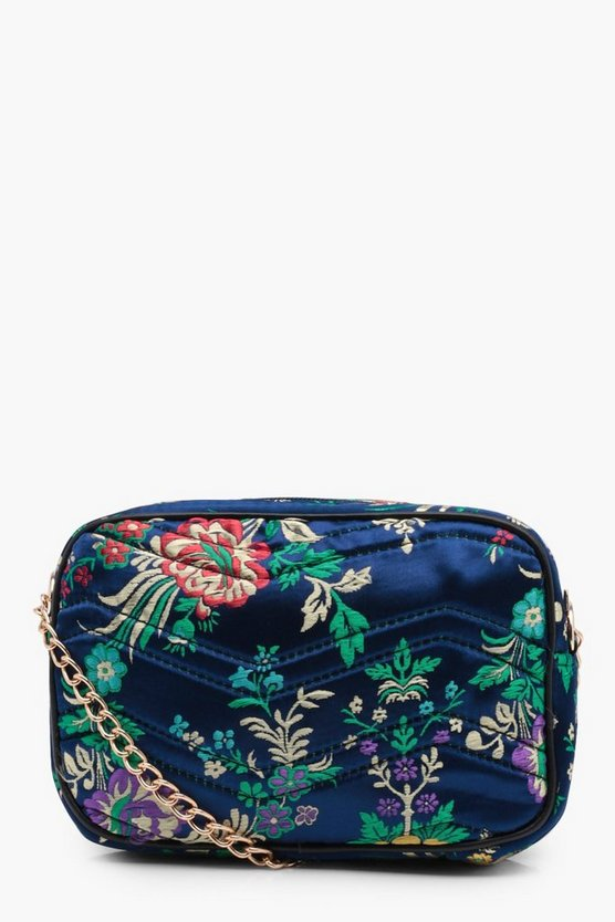 Tasha Oriental Floral Quilted Cross Body Bag