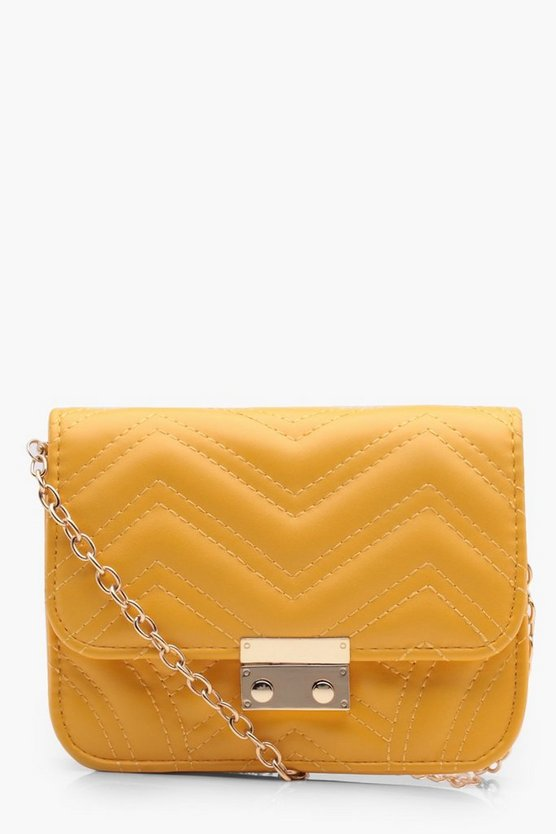 Sarah Zig Zag Quilted Cross Body Bag