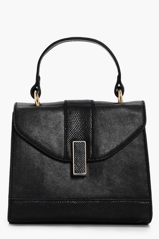 April Mixed Texture Satchel Cross Body