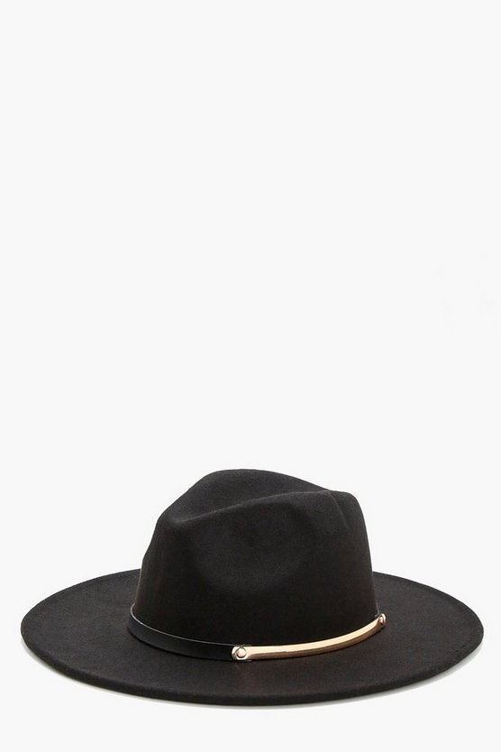 Bar Belt Trim Fedora