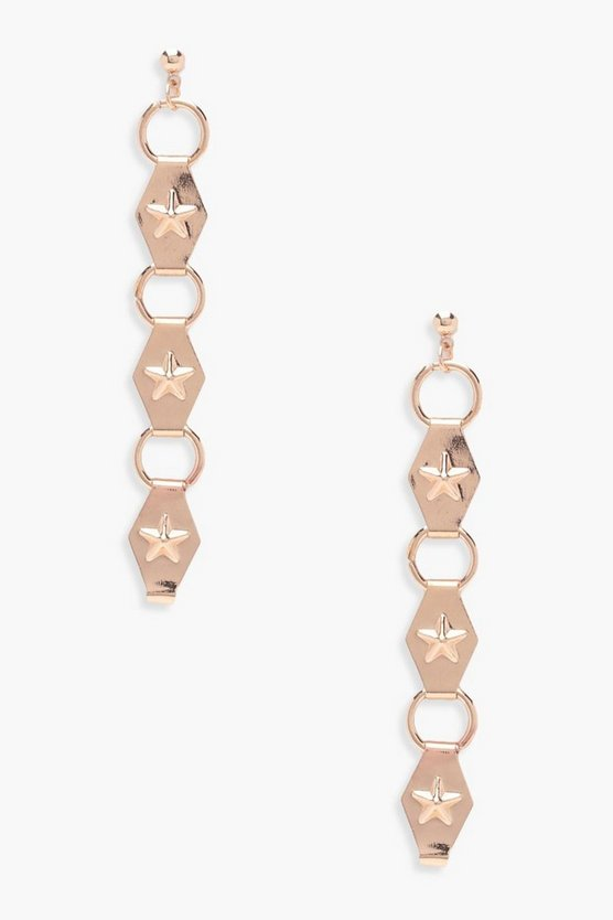 Nancy Stud And Circle Drop Earrings