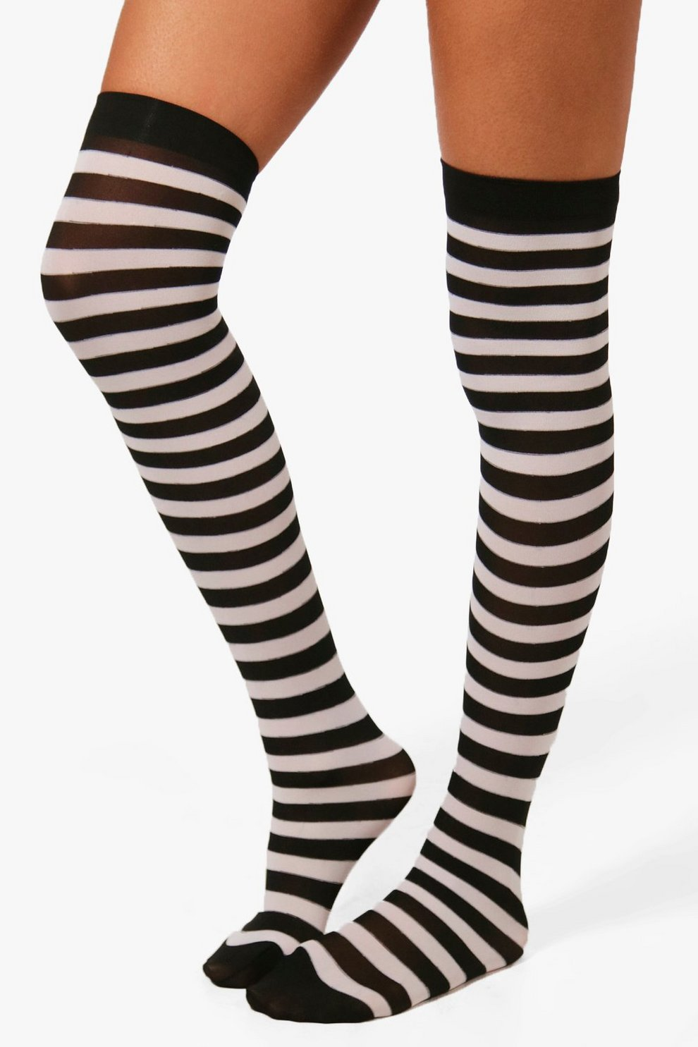 15a6cd130 Womens Black Emily Halloween Stripe Knee High Socks. Hover to zoom