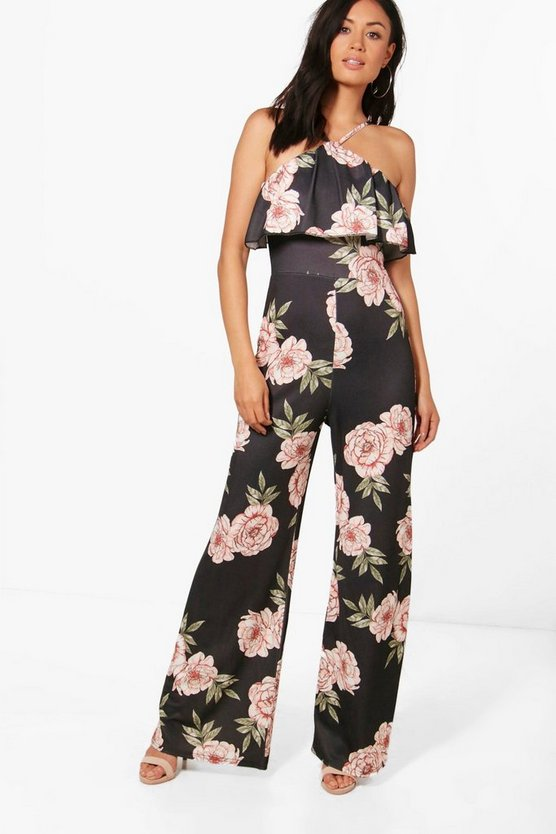 Marley Frill Wide Leg Jumpsuit