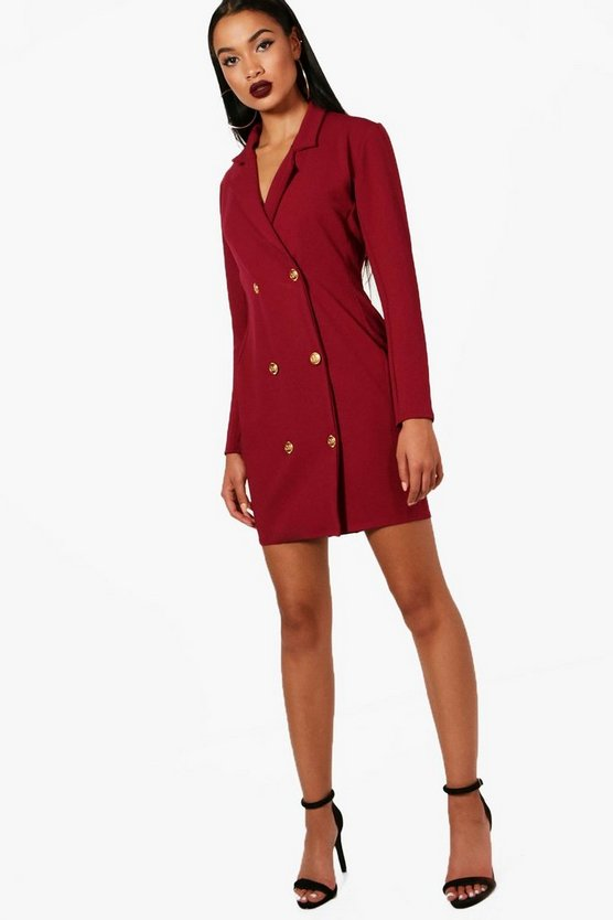Womens Berry Georgia Double Breasted Blazer Dress