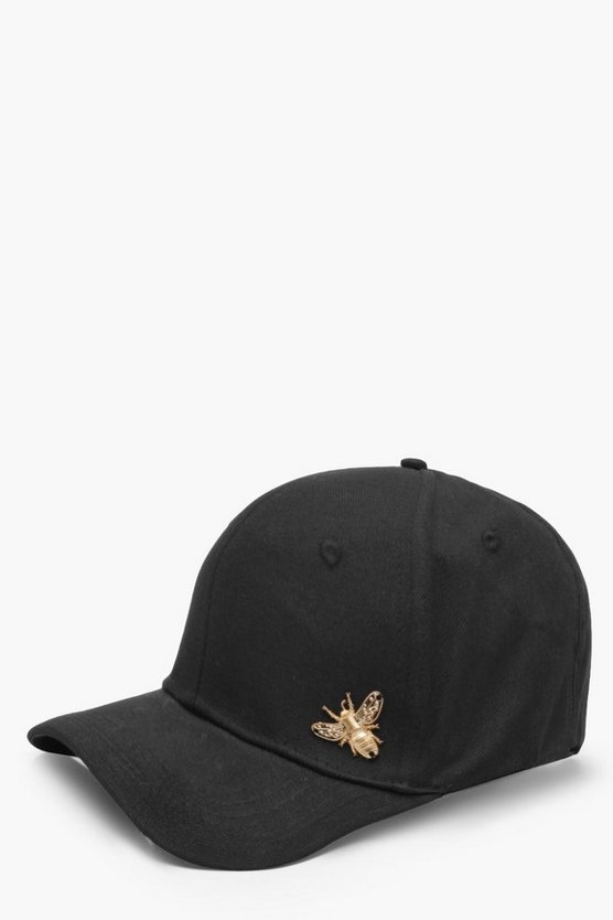 Jenna Metal Bee Badge Cap