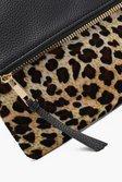09ec60b89c7f ... Womens Amy Leopard Contrast Fold Over Clutch alternative image ...