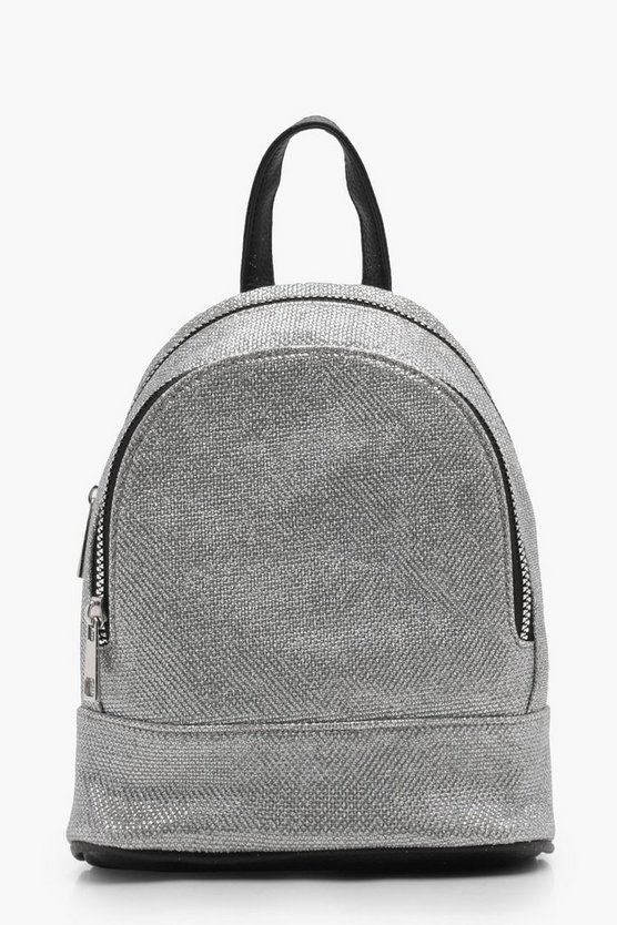 Millie Metallic Woven Backpack