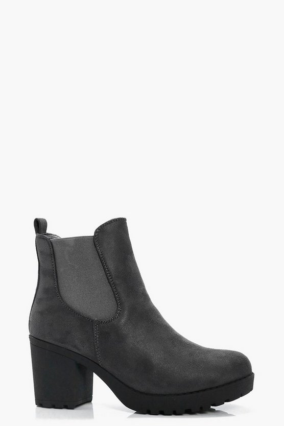 Nadia Pull On Cleated Chelsea Boot
