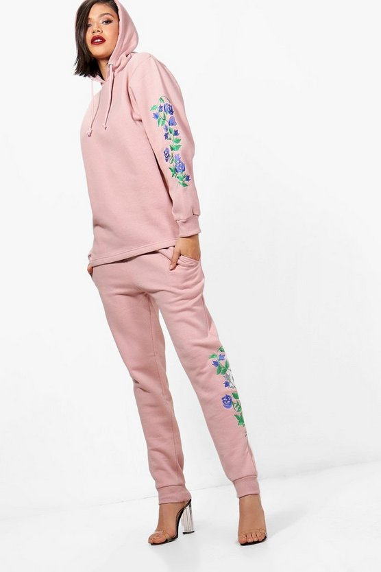 Abigail Athleisure Embroidered Hooded Tracksuit