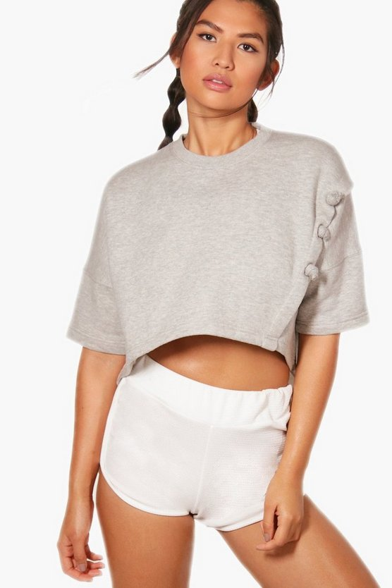 Athleisure Knotted Crop Top