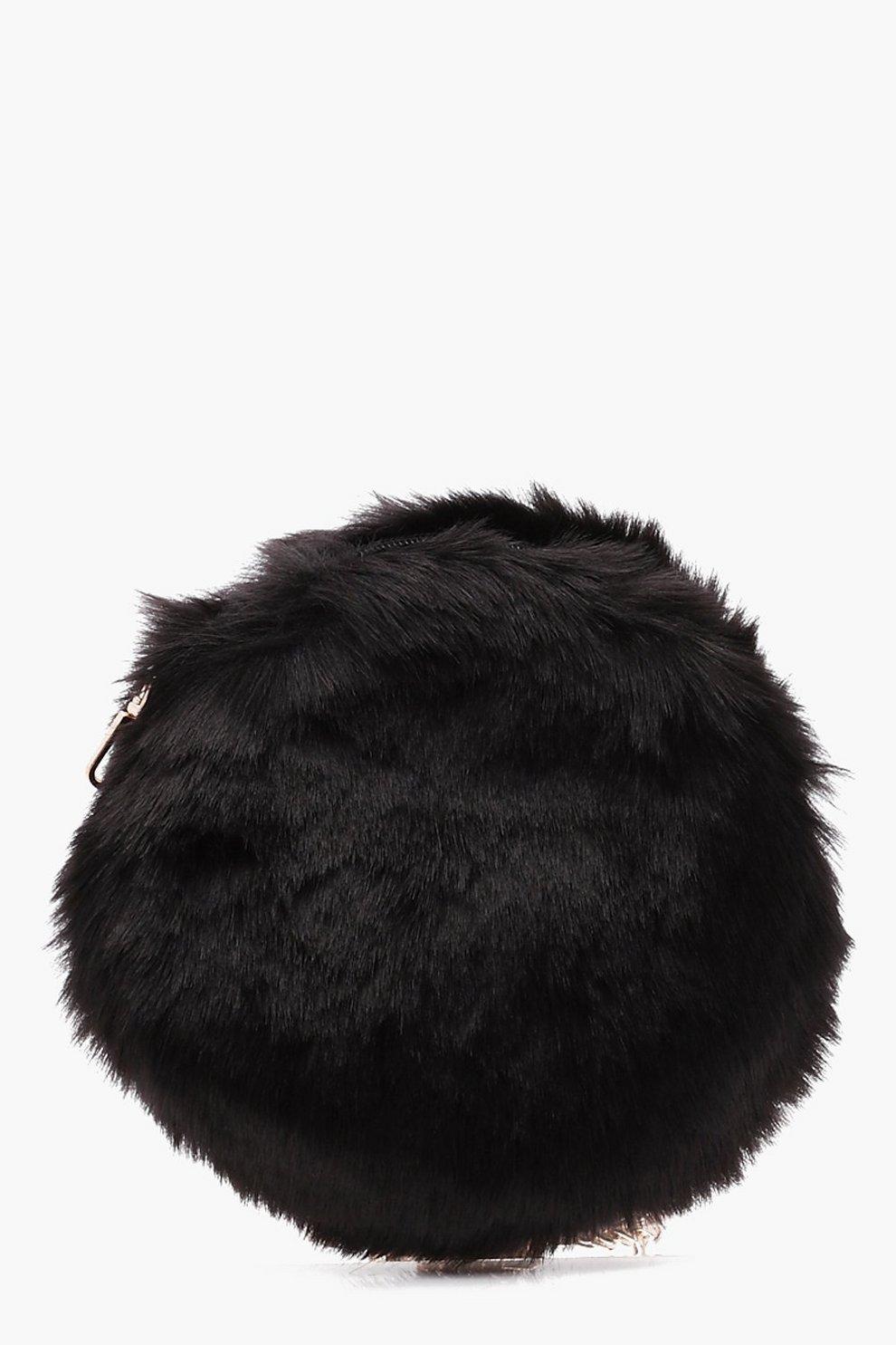 Bec Round Faux Fur Cross Body Bag  b4ca81735ecab