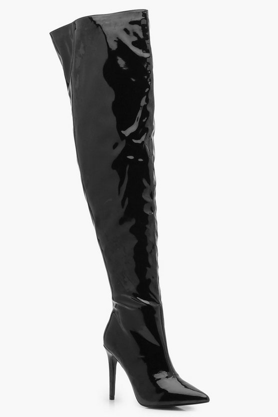 Hi Shine Thigh High Boots
