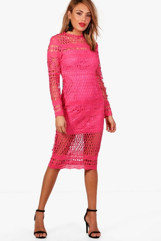 Boutique Lace Midi Dress