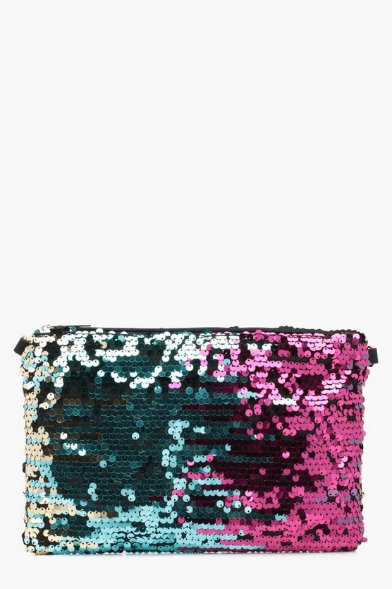 Luna Ombre Sequin Clutch Bag