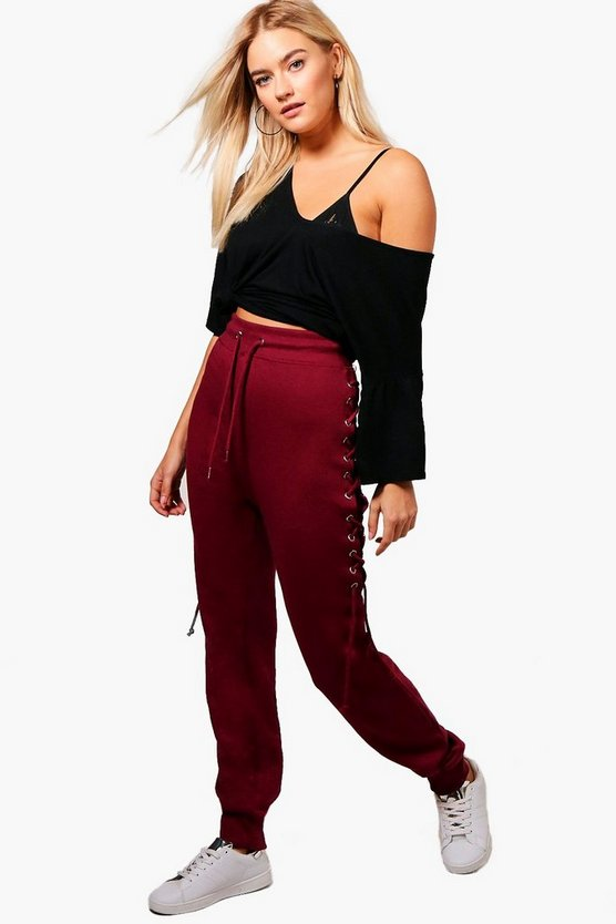 Beth Lace Up Loopback Joggers